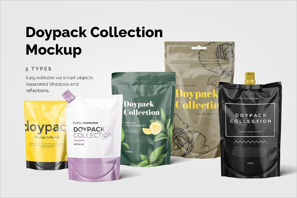 PSD Doypack Mockups Collection