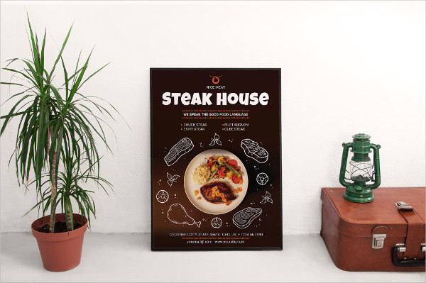 Printable Steak House Poster