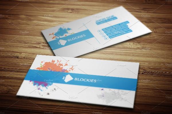 Rainbow Splash Business Card Template