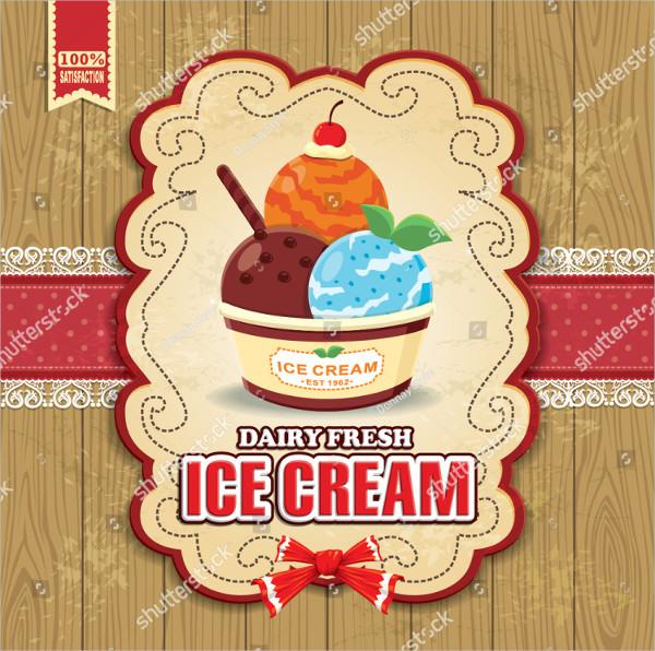 Fresh Ice Cream Poster Design