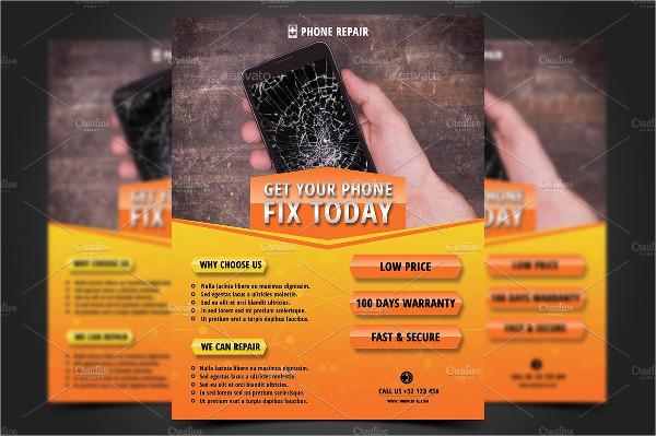 Smartphone Repair Business Flyer Template