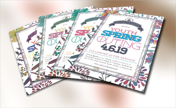 Youth Spring Outing Church Flyer PSD
