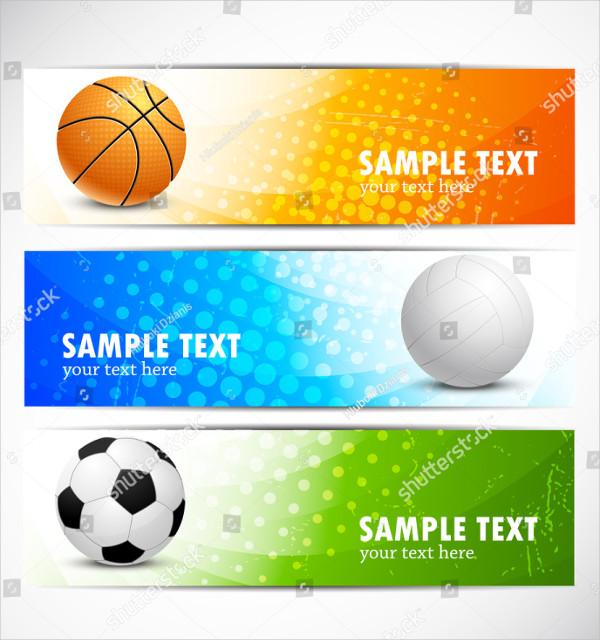 Set of Senior Sports Banners