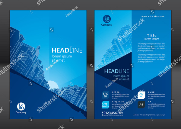 Architecture Brochure Design Vector
