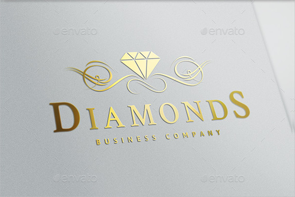 Beautiful Diamonds Logo Template