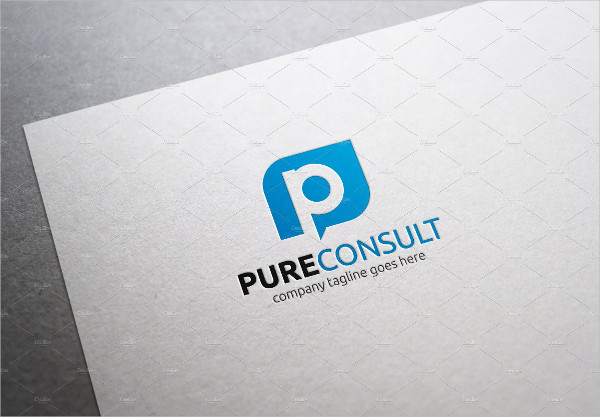 Pure Consult Letter P Logo Template
