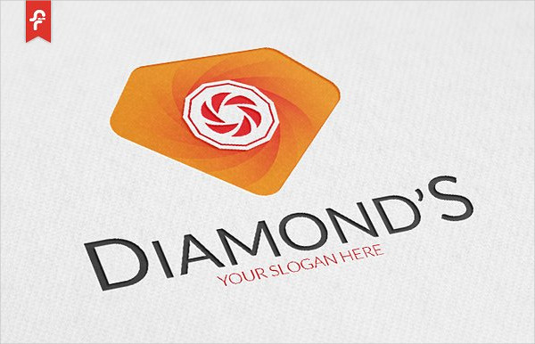 Minimalist and Modern Logo of Diamond
