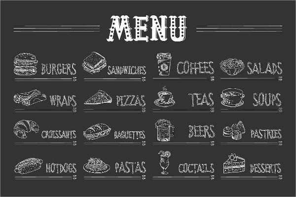 Food and Drinks Menu Vector Illustration