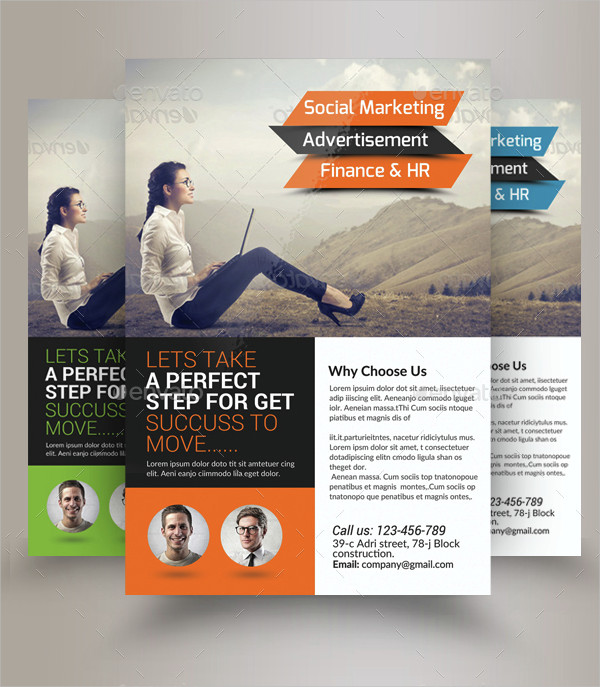 Professional Marketing Consulting Business Flyer Template