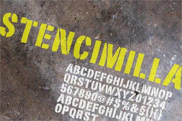 Popular Stencil Font