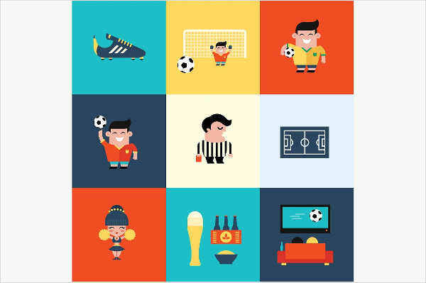 Perfect Football Icons Vector