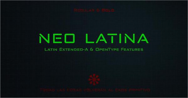 Free Neo Latina Stencil Fonts