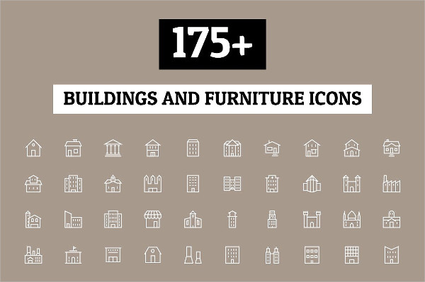 175+ Furniture and Building Icons