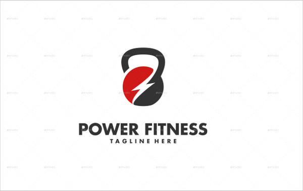 Best Power Fitness Logo Template