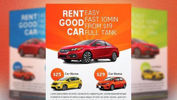 Car Rental Flyer Templates