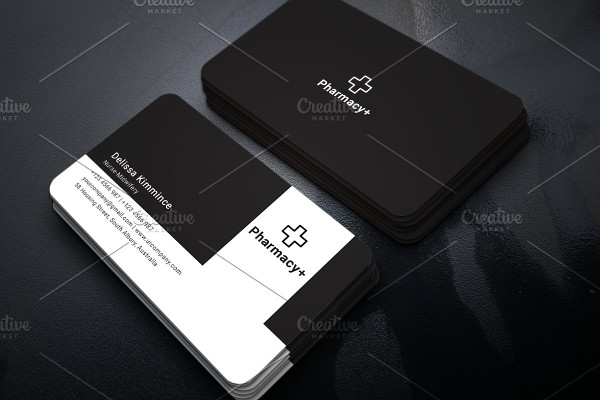 Clean Pharmacy Business Card Template