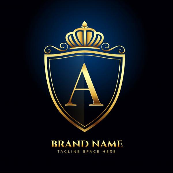 Golden Logo Luxury Style Concept Free