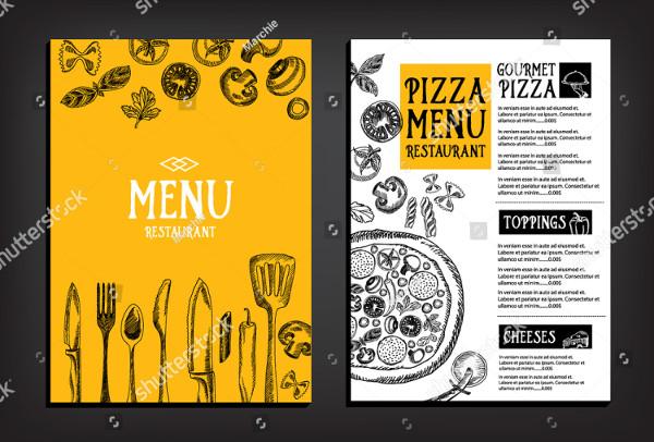 Pizza Menu Restaurant Brochure Design