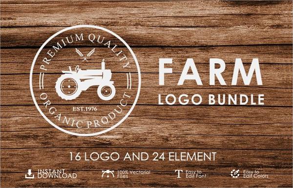 Set of Vintage Farm Logo Templates Bundle