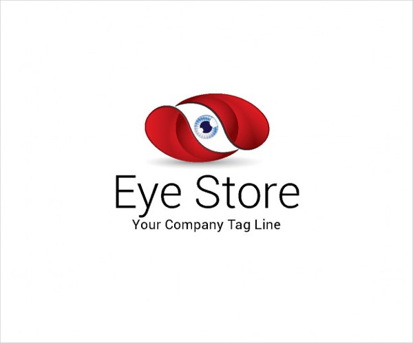 Abstract Eye Store Logo Template Free Vector