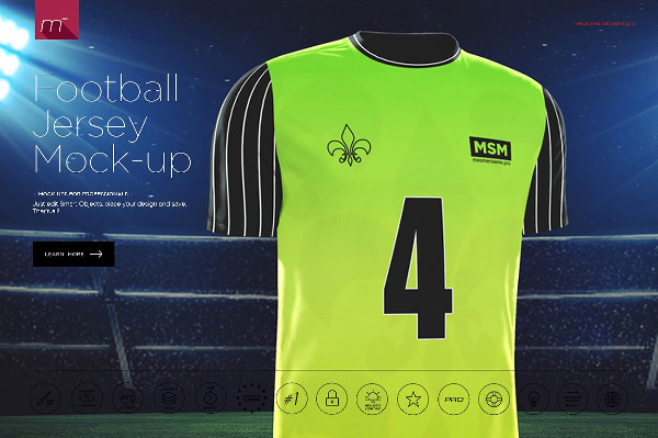 Awesome Football Jersey Mock-Up