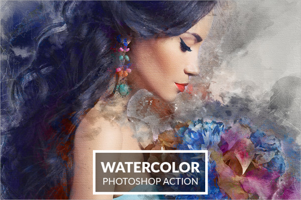 Creative Watercolor Photoshop Action