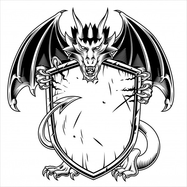 Dragon with Shield Free