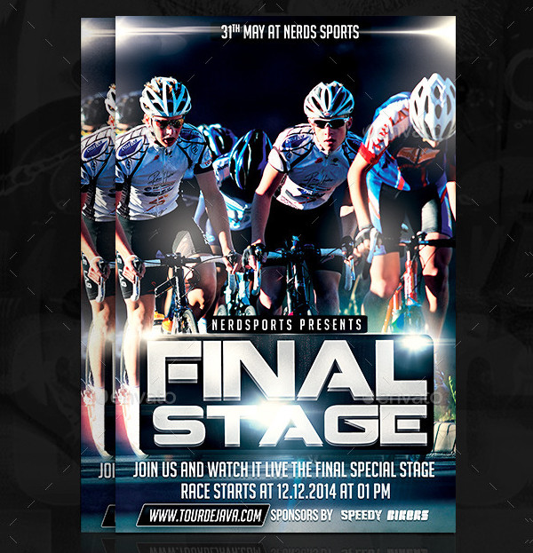 Final Stage Bicycle Sports Flyer Design