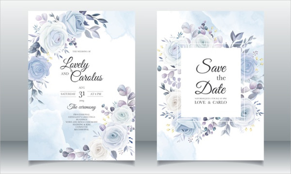 Floral Wedding Planner Card Free Download