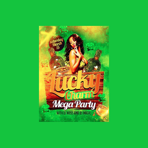 Free St. Patricks Lucky Charm Flyer Template