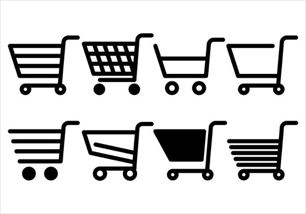 Free Supermarket Cart Vector Icons