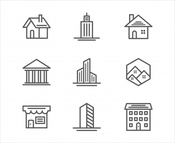 Free Vector Real Estate & Building Icons