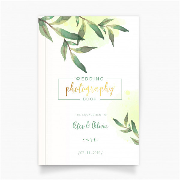 Free Wedding Photography Book with Watercolor Leaves