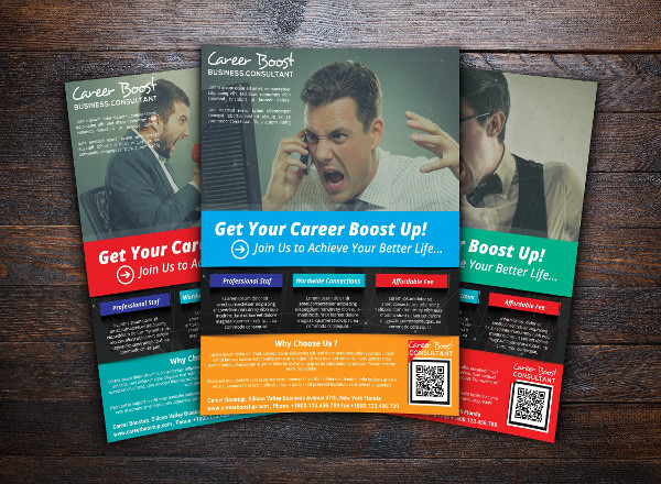 Fully Editable Career Boost Consultant Flyer Template