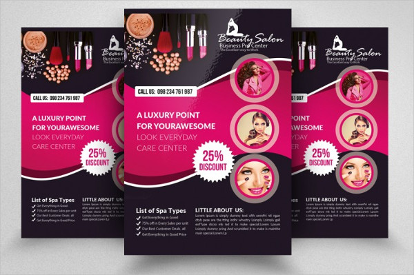 Fully Layered Flyers for Beauty Salon