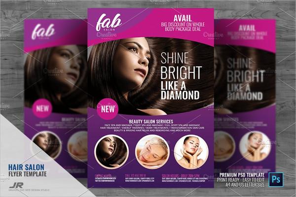 Hair Salon and Makeup Center Flyer