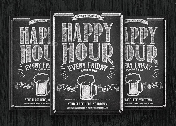 PSD Happy Hour Flyer Template
