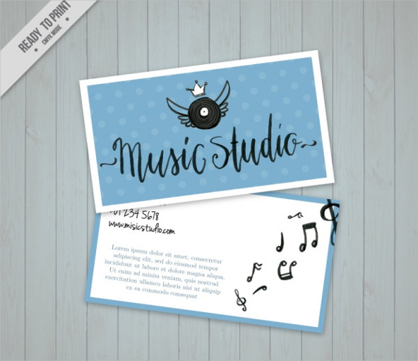 Music Studio Business Card Free Download