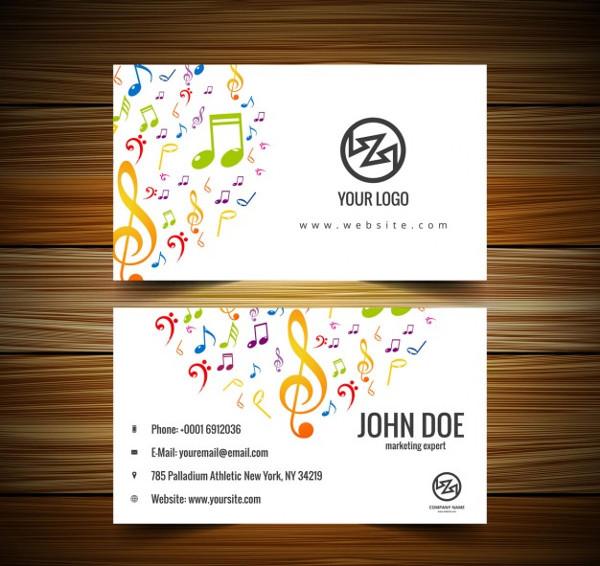 Music Studio Visiting Card Free Download