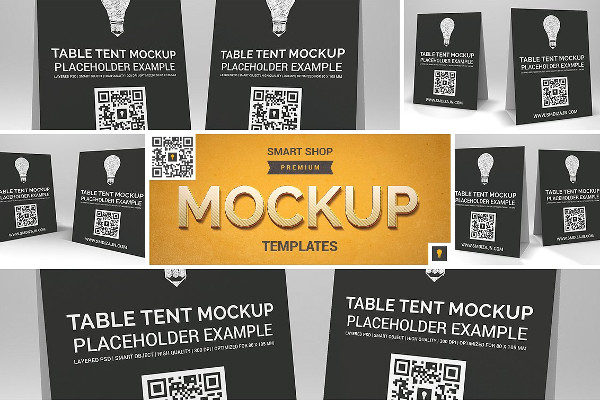 Perfect Table Tent Mockup Templates