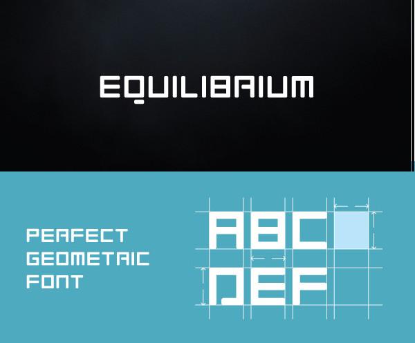 Popular Equilibrium Geometric Font