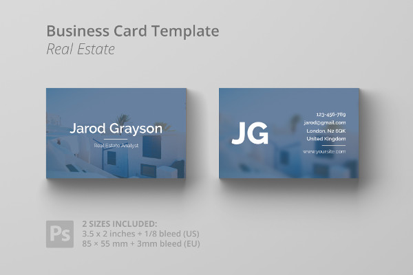 Real Estate Analyst Business Card