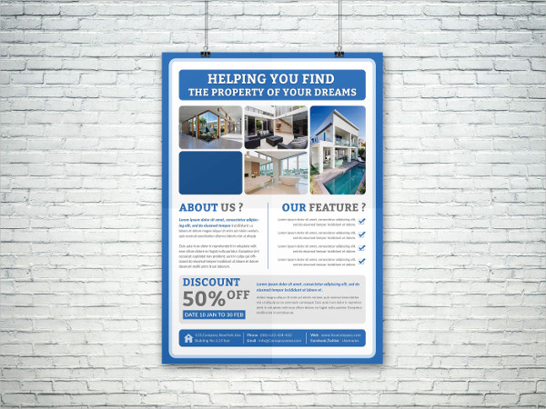 Real Estate Property Poster Template