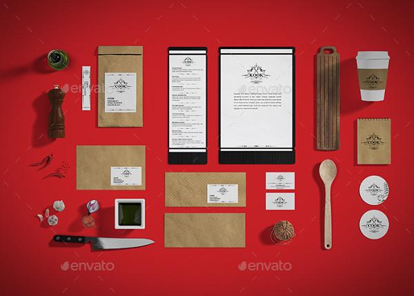 Restaurant Food Branding Identity Mockup