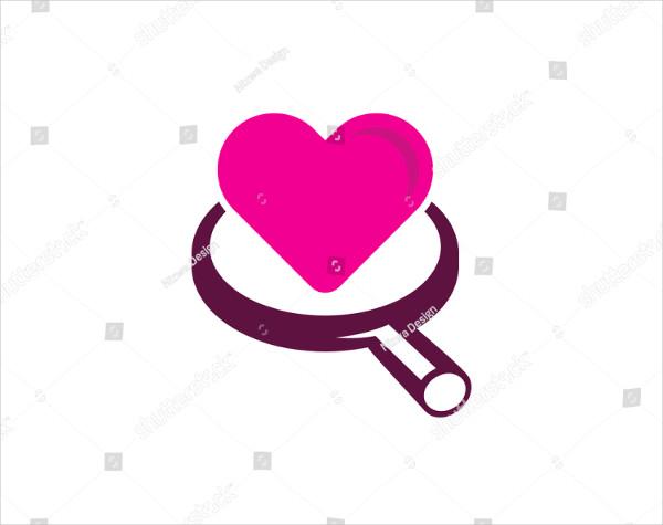 Search Love Design Logo Template