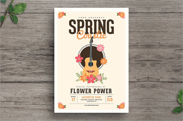 Spring Acoustic Flyer PSD