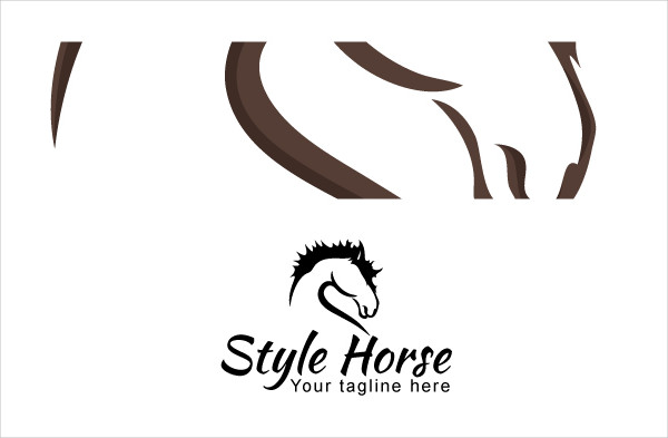 Black and White Horse Logo