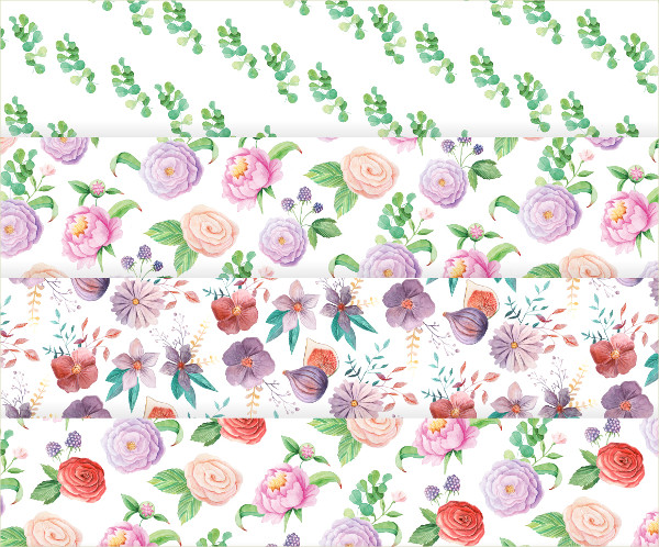 10 Summer Floral Seamless Patterns