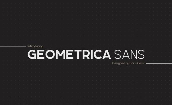 Thin Geometric Sans Font