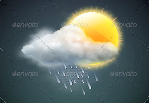 Vector Illustration of Cool single Weather Icon